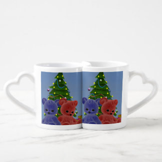 Christmas Bears 2 Coffee Mug Set