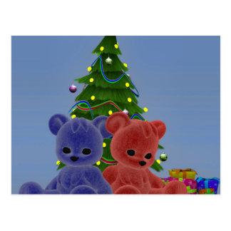 Christmas Bears 2 Postcard