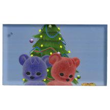 Christmas Bears 2 Table Card Holder