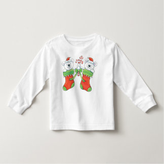 Christmas Bears Candy Canes Stockings Shirt