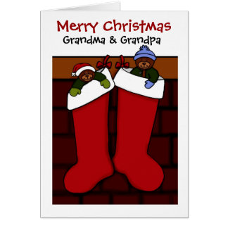 Christmas bears for grandma and grandpa card