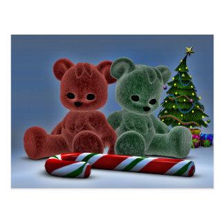 Christmas Bears Postcard