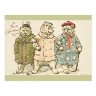 Christmas Bears Postcards