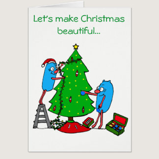 Christmas Beautiful for Autism Charities Card