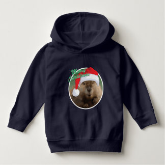 Christmas Beaver - Toddler Pullover Hoodie