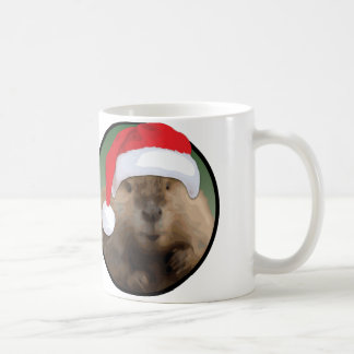 Christmas Beaver - White 11 oz Classic White Mug