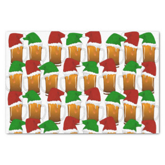 """Christmas Beer Cheer 10"""" X 15"""" Tissue Paper"""