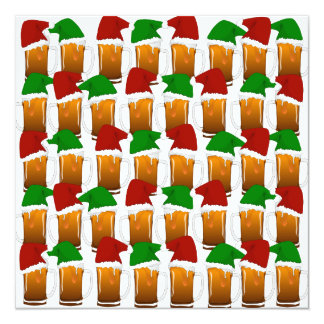 Christmas Beer Cheer 5.25x5.25 Square Paper Invitation Card