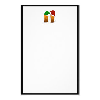 Christmas Beer Cheer Customized Stationery