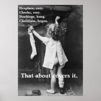 Christmas Begun - Poster print