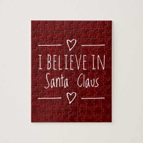 Christmas 'Believe in Santa Claus Quote Jigsaw Puzzle