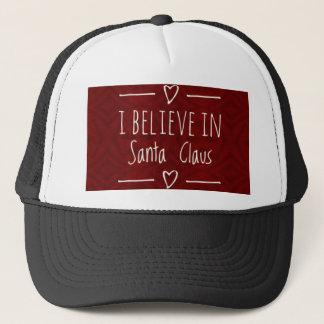 Christmas 'Believe in Santa Claus Quote Trucker Hat