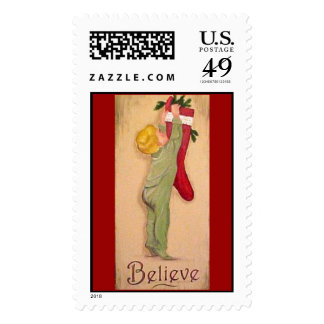 Christmas - Believe Postage Stamps