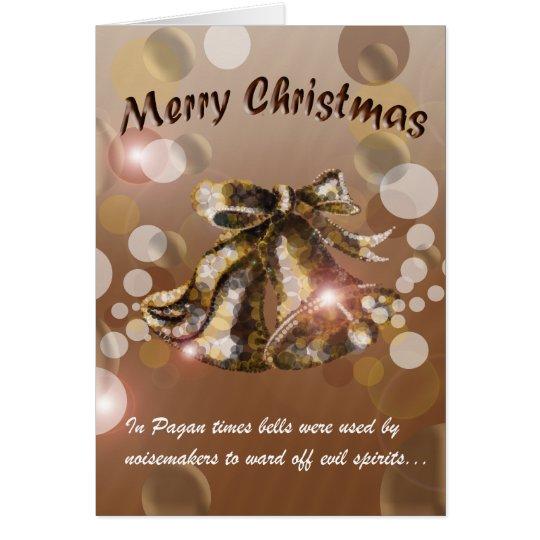 Christmas Bell (Brown) Card