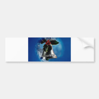 Christmas Bell Bumper Sticker