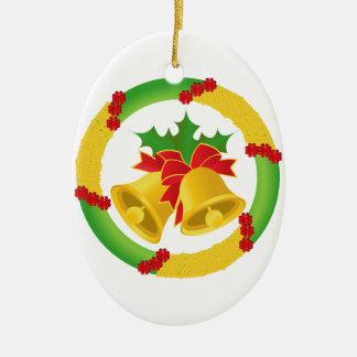 Christmas Bell Ceramic Ornament