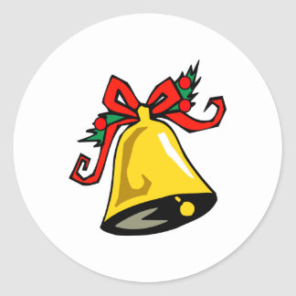 Christmas Bell Classic Round Sticker