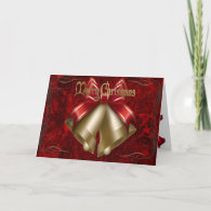 Christmas Bell in Red Greeting Card