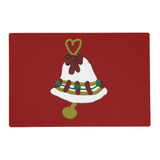Christmas Bell Laminated Placemat