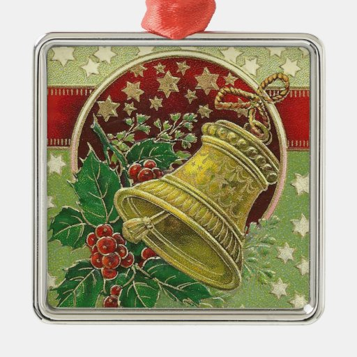 Christmas bell metal ornament zazzle