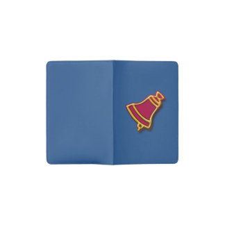 Christmas bell pocket moleskine notebook cover with notebook