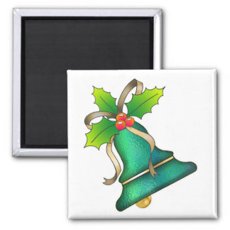 Christmas Bell with Holly-20 Magnet