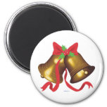Christmas Bells 2 Inch Round Magnet