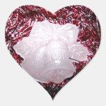 Christmas Bells and Garland Heart Sticker