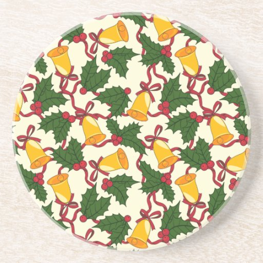 Christmas Bells and Holly Coaster