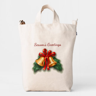 Christmas Bells and Holly Leaves Duck Bag