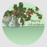Christmas Bells and Holly Stickers