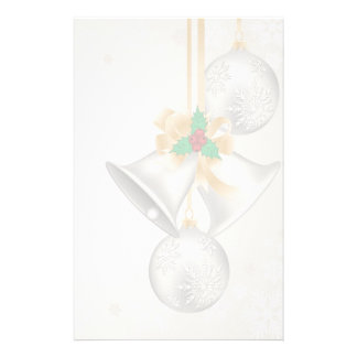 Christmas Bells and ornaments custom stationery