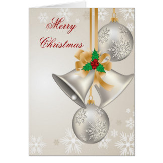 Christmas Bells And Ornaments Greeting Card