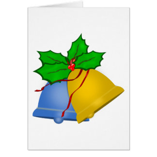 Christmas Bells - Blue and Gold Card
