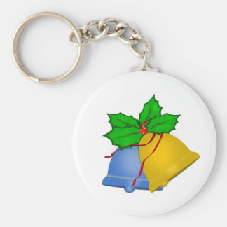 Christmas Bells - Blue and Gold Keychain