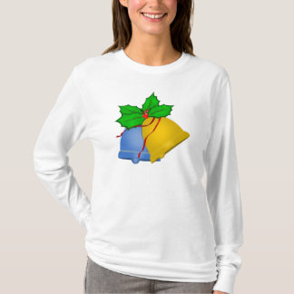 Christmas Bells - Blue and Gold T-Shirt