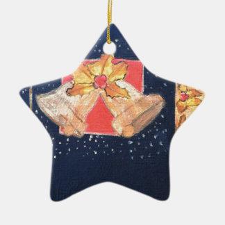 Christmas Bells Ceramic Ornament