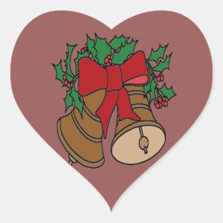 Christmas Bells Heart Sticker