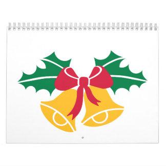 Christmas bells holly calendar