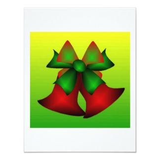 Christmas Bells III Custom Invitation