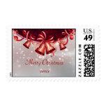 Christmas Bells In Red & Silver Briefmarke