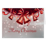 Christmas Bells In Red & Silver Greeting Cards