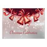 Christmas Bells In Red & Silver Custom Announcement
