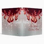 Christmas Bells In Red & Silver Vinyl Binder