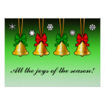 Christmas Bells Joy of the Season Poster
