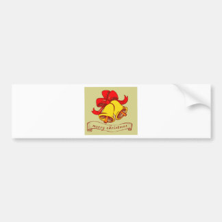 Christmas bells Merry Christmas letters Bumper Sticker