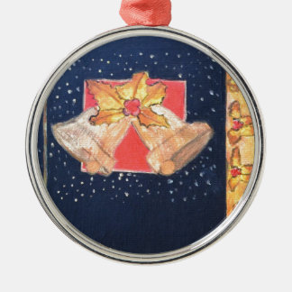 Christmas Bells Metal Ornament