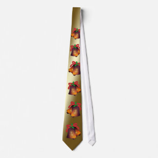 Christmas Bells on Gold Customizable Tie