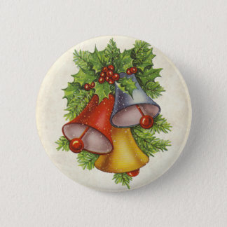 Christmas Bells Pinback Button