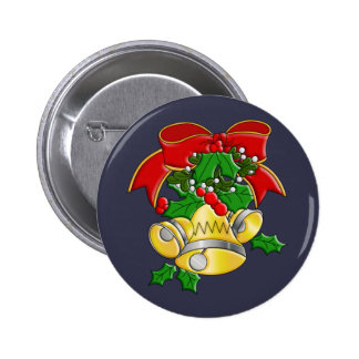 Christmas Bells Pinback Button